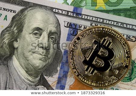 bitcoin · pénz · közelkép · grafika · üzlet · háttér - stock fotó © OleksandrO