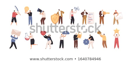 Woman holding different light bulbs Stock photo © IS2