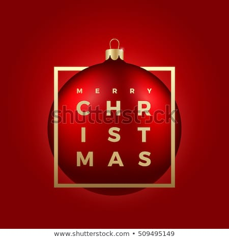 Christmas ball isolated vector sticker stock photo © studioworkstock