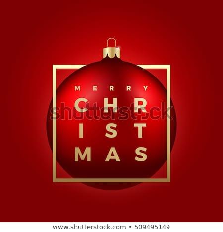 Christmas ball isolated vector sticker Stock photo © studioworkstock