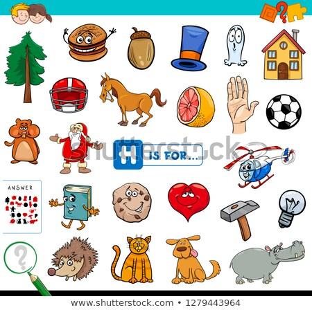 English worksheet for words starting with H Stock photo © bluering