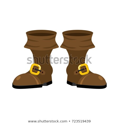 pirate boots isolated. rover shoes. buccaneer Shoe Stock photo © popaukropa