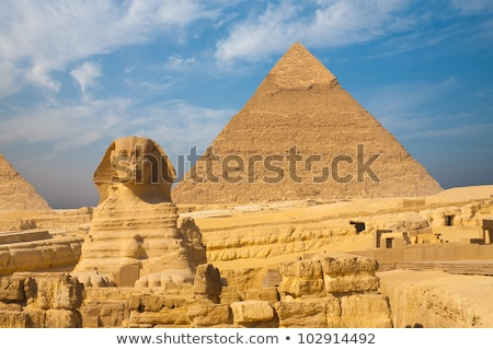 famous egypt sphinx in Giza from behind Stock photo © Mikko