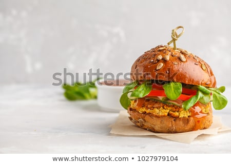 veggie burger Stock photo © M-studio