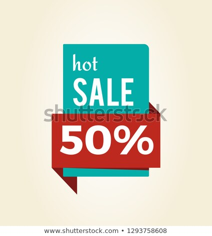 Hot Sale -50 Off Promo Label Informing of Discount Stock photo © robuart