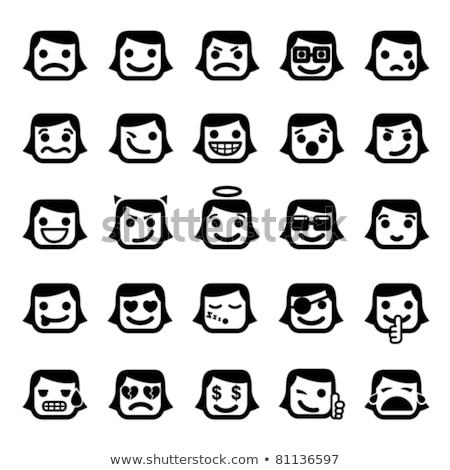 Ağlayan sarı karikatür karakter gözyaşı Stok fotoğraf © hittoon