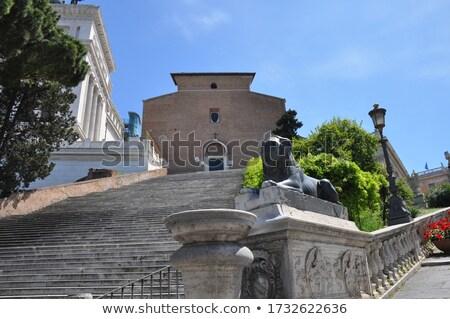 Рим Италия небе лошади искусства Сток-фото © Givaga