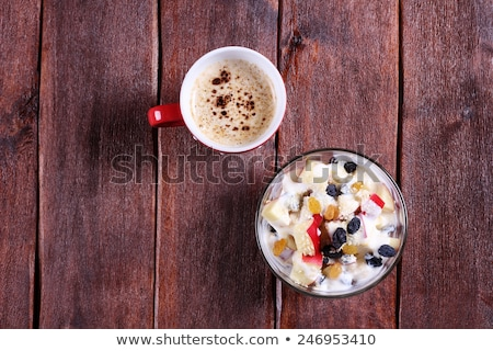 Vruchtensalade mok vruchten achtergrond zomer ontbijt Stockfoto © M-studio