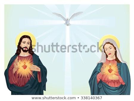 Cross with Jesus figure Stock photo © bryndin