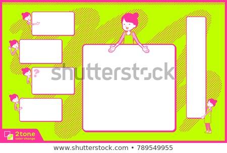 Balé cabelo avental mamãe texto Foto stock © toyotoyo