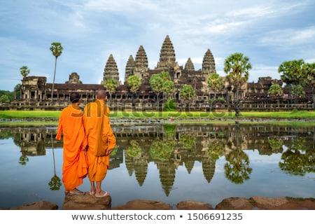 Paisagem angkor Camboja histórico ruínas tropical Foto stock © bbbar