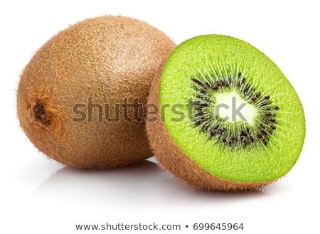 Groene kiwi geheel nat Stockfoto © dash