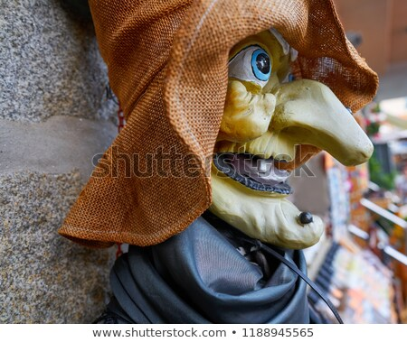 Witch face profile in Galicia Spain Stock photo © lunamarina