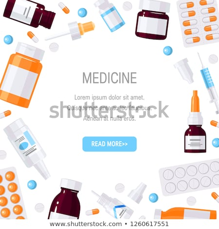 Medication and Pharmacy Posters Medicament Items Stock photo © robuart