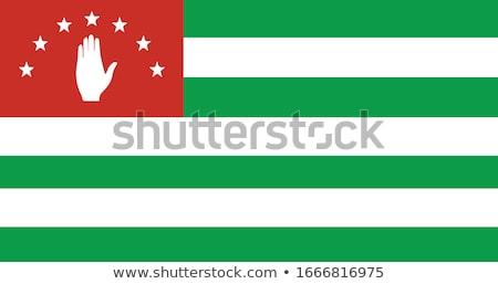 abkhazia flag vector illustration stock photo © butenkow