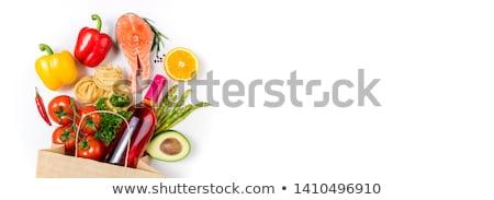 Omega3 termékek fehér étel piros kövér Stock fotó © Alex9500