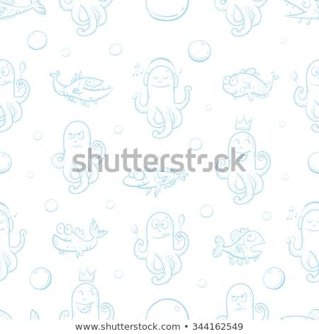 karikatür · deniz · sevimli · deniz - stok fotoğraf © robuart