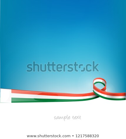 Мадагаскар лента флаг Blue Sky аннотация дизайна Сток-фото © doomko