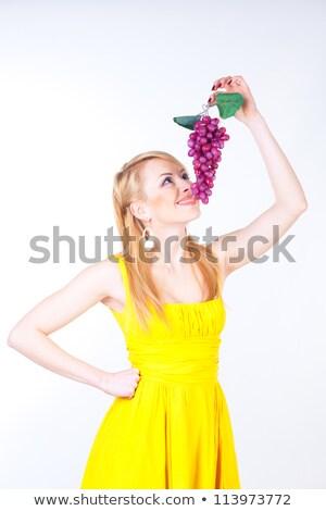 Rubio hambriento dama mirando dulces Foto stock © konradbak