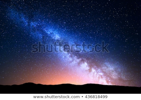 Starry sky with milky way Stock photo © Kotenko