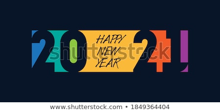 New Year Party Celebration Poster Template Design with 3d 2019 Number and Disco Ball on Blue Backgro Stock photo © articular