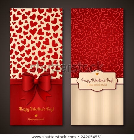 Valenines Day pattern. It s valentine in your heart typography quotes and hearts. Trending living co Stock photo © JeksonGraphics