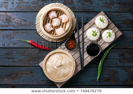 dim sum, bamboo dish Stock photo © M-studio