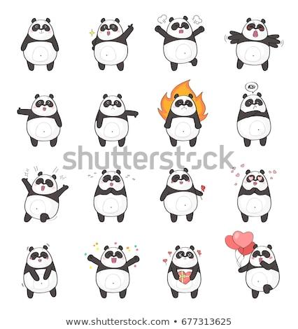 Cartoon boos beer naar Stockfoto © cthoman