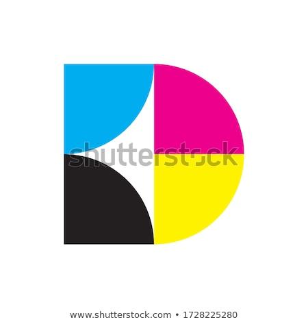 letter m cyan black logo vector icon stock photo © blaskorizov