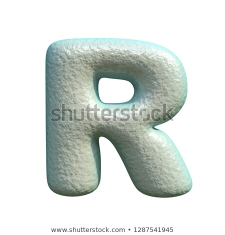 Grey blue clay font Letter R 3D Stock photo © djmilic