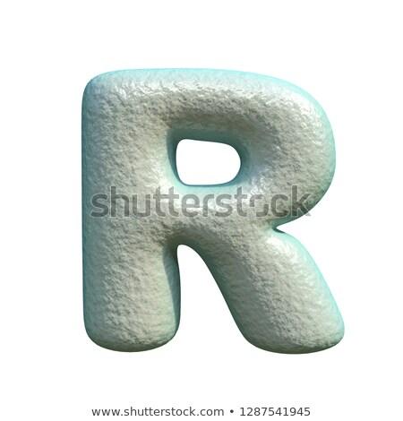 серый синий глина шрифт буква r 3D Сток-фото © djmilic