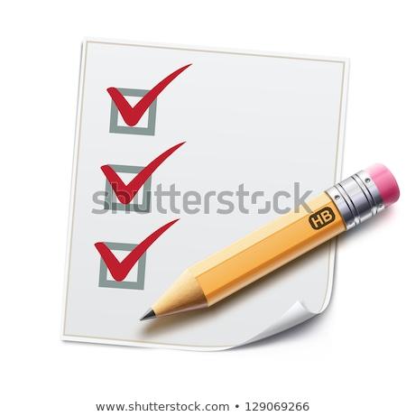 契約 紙 アイコン シャープ 鉛筆 孤立した ストックフォト © robuart