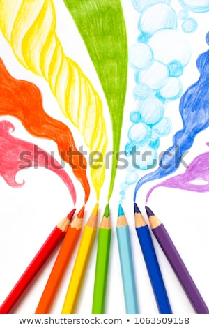 lápis · de · cor · papel · modelo · vetor · grupo · cor - foto stock © colematt