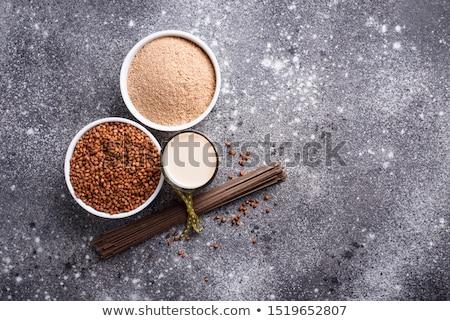 Sin gluten harina leche gris vidrio Foto stock © furmanphoto