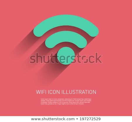Free wifi - flat design style colorful illustration Stock photo © Decorwithme
