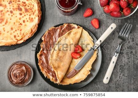 mogyoró · házi · készítésű · forró · csokoládé · csésze · diók · csokoládé · szelet - stock fotó © grafvision
