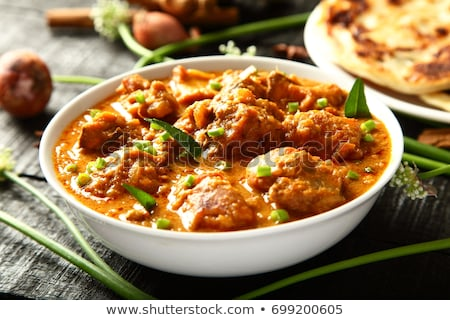 Bowl Of Homemade Chicken Curry Stock photo © mpessaris