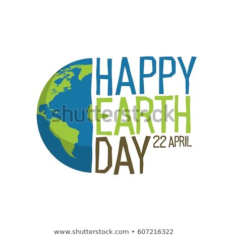 Föld napja illusztráció bolygó zöld levél világtérkép 22 Stock fotó © articular