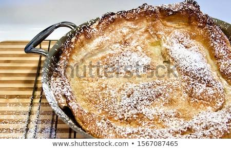 Nederlands baby pannenkoek geserveerd gesmolten boter Stockfoto © Alex9500