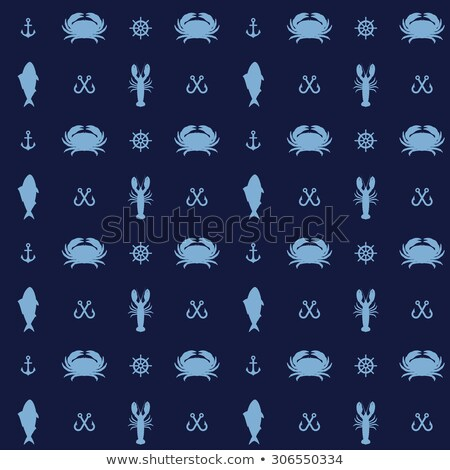pattern of vector crab icons stock photo © netkov1