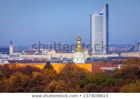panorama of leipzig in fall scenery stock photo © benkrut