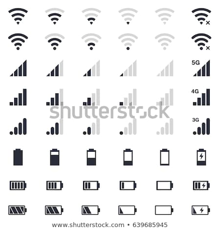 Niveau icône signal wifi isolé blanche Photo stock © kyryloff