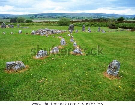 steen · cirkels · noordelijk · Ierland · reizen · rotsen - stockfoto © phbcz