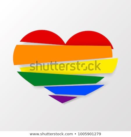 lgbt heart on white background. Isolated 3D illustration Stock photo © ISerg