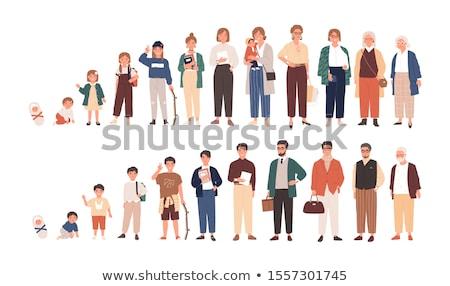 Hommes âge générations croissant up composite numérique Photo stock © wavebreak_media