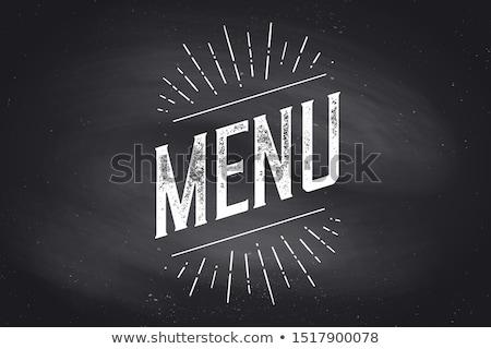 Chefs menu muur poster teken Stockfoto © FoxysGraphic