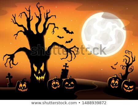 Arbre silhouette sujet image automne Photo stock © clairev