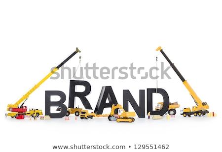 Brand start up: Machines building brand-word. Stock photo © lichtmeister