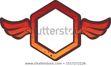 octagon red wing theme logo brand sign icon Stock photo © vector1st