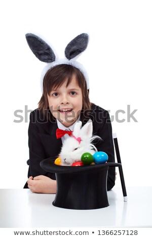büyücü · erkek · Paskalya · hile · boyalı · yumurta - stok fotoğraf © ilona75
